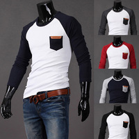 2014 Fashion New Long Sleeve T-Shirt Men,Brand Quality Spring&Autumn Casual Tees Cloth Man,Drop&Free Shipping