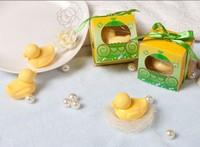 NEW PACKING!  Papaya Soap 1pcs/box 6box/lot Mixed Lot  Little Duck Shape Handmade Soap children party supplies