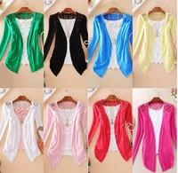 happy SZ Sweaters  women fashion Candy Long Size Summer Lace Cardigan Sweater Coat for women 1 piece  FSY0006 XHCX