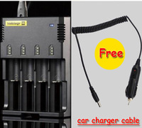 Car charger+1PC Nitecore Battery Charger for 16340 10440 AA AAA 14500 18650 26650 Battery Nitecore I4 Charger