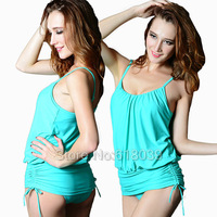 B085 VS Hot Brand One Pieces Dress Swimwear For Women Biquinis Sexy Swimsuit Beach wear Skirt Bathing Suit Sale New 2014