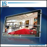 silver crystal led acrylic panel light box
