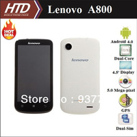 Hot !!! Original Lenovo A800 40 Language 4.5 Inch Dual Core 1.2GHz MT6577T CPU  Dual Sim Cell Phone with Free 8G SD Card !!!