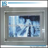 hot sale acrylic crystal frame led light box