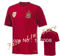 2014 Brasil World Cup Spain Nation Men Short Soccer Jersey,Free Shipping Thail Quality!