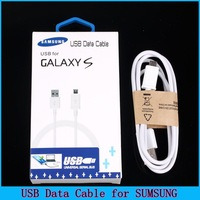 Free Shipping! Most Popular White 1.2 m USB Data Cable With Package, Data Line, Charger Cable for SumSung Phone AC0027