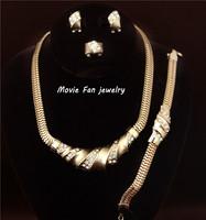 Daren rhinestone Necklace Fashion Jewelry Set For Women 4pieces/set jewelry party jewelry Bridal Jewelry  DRSA118