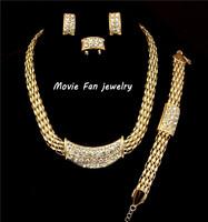 Daren 18K gold rhinestone african jewelry set 4pieces/sets jewelry party jewelry rhinestone necklace  DRSA153