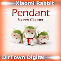 China New Year Sale Original Mitu Xiaomi Rabbit Pendant Classic,Flying, Bighead Screen Cleaner Key Ring Polyester Material