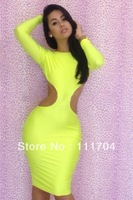 New 2013 women bandage dress, Sexy party bodycon Bright colorsBackless dress,women's clubwear nightclub dress with X shape#6065