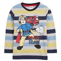 2014 new style 18m/6y printed cartoon character Fireman Sam  boy spring autumn long sleeve T-shirt