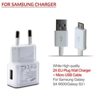 Universal 2A EU plug Wall Charger with Micro USB Cable carregador adapter For mobile phone Samsung Galaxy S5 S4 S3 I9500 I9300