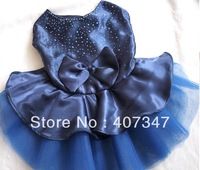 Free Shipping! wholesale 12 pcs big bowknot dog skirt 3 colors and 4 sizes available