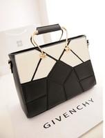 bolsas femininas 2014 women's fashion vintage handbag black and white color block casual shoulder bag messenger bag  Carteras