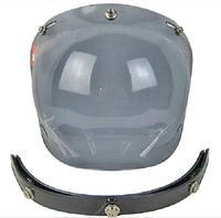 New Motorcycle Sports Helmet Visor Shield for 3/4 Motorcycle Bubble visor Helmet windshield