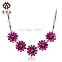Yintai 925 silver luxury purple gem Women silver necklace  new 2013 girls accessories jewelry sets