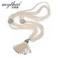 Multi-layer pearl necklace natural women's design long necklace fashion jewelry  new 2014 girls accessories