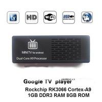 mini pc tv box mk808 Android 4.1 Jelly Bean Mini PC MK808 tv Stick Dual Core RK3066 TV Box Dongle UG802 II 1GB / 8GB TV BOX