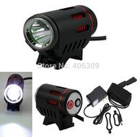 New Arrival Black Color 120-Lumen 4-Mode 1x Cree XM-L U2 4*18650 Battery Pack Led Bike Light Set Free Shipping