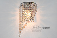 Contemporary and contracted Europe type wall lamp crystal lamp bedside lamp corridor lamp bedroom wall lamp