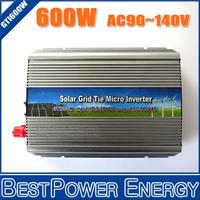 600 Watt Grid Tie Inverter 600W DC10.5~28V to AC90~140V Micro Solar Grid Inverter Pure Sine Wave used for 600~720W 18V PV Module