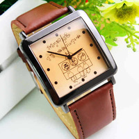 2013 new men sports business quartz watch resistant full leather strap water relogio clock  masculino brand watch -pdsyb0008