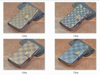 1 piece  hot flip leather luxury deluxe wallet case for iphone 4s 4 4g