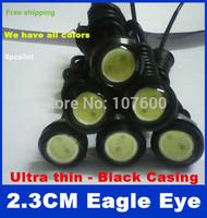 6pcs 2.3cm ultra-thin screw car Eagle Eye Lights For Daytime Running Light Auto LED DRL Fog lamp Waterproof License plate light