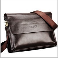 Feger brand designers men's commercial messenger bags,business briefcase for man,high quality genuine real cowhide leather