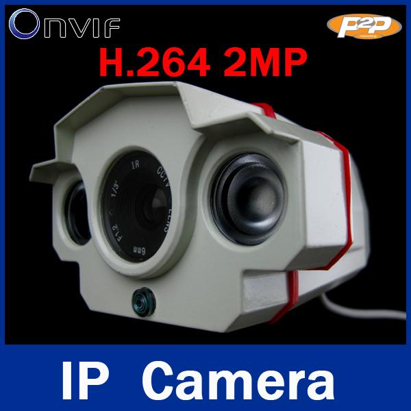 ONVIF CCTV H.264 2MP 1920*1080 1080P 6MM IP Network Outdoor Waterproof 2 Array IR LEDs Night Vision Security IR Camera(China (Mainland))