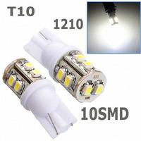 Wholesale 10pcs/lot white T10 194 168 192 W5W 3528 smd 10 smd super bright Auto led car led lighting/t10 wedge led auto lamp#f3e