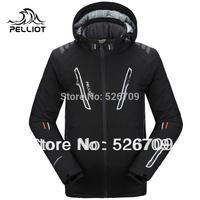 2014 Casual Autumn Winter Dress Polo Clothing Set Snowboard Skiing Pants Pelliot Waterproof Ski Suit Men Snow Mammoth Jacket