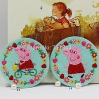Peppa pig iron on patches piggy Cartoon Kids  patch Jacket Patch Crest Children Cartoon Patch wholesale 100pcs/lot