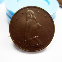 new Free shipping Sexy Sex Europe commemorative Coins soap chocolate cake silicone Candy cookie silicone mold S060