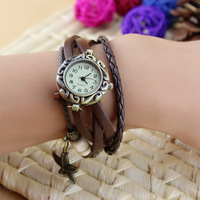 Minimum order $10 new hot sales Fashion leather ladies' Sea stars bracelet wrist watch