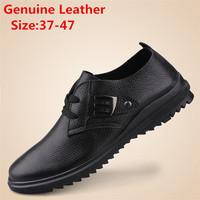 Big size men sneakers comfortable men's leather shoes fashion men casual shoes summer Rosan shoes  size:37-47