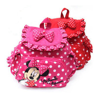 cute girls cartoon minnie mouse harness backpacks kintergarden children bags school bags for kids baby back pack