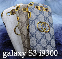 10pcs/lot wholesale price new arrival 3d luxury leather back cover case for samsung galaxy s3 i9300