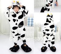 Kids Cow    onesies Pyjamas Cartoon Animal Cosplay Costume Pajamas Kids Onesies Sleepwear Halloween