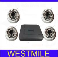 4ch CCTV System 700tvl indoor IR Cameras Network D1 DVR Recorder CCTV Systems Security Camera Video System DVR Kit Free shipping