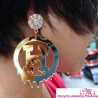 2013 I Love H Big Letter Acrylic Fashion Stud Earring