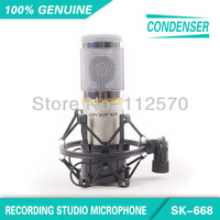 Free Shipping! SK-668 Cardioid Directivity Professional Wired Computer Recording Studio Condenser Microphone For Studio Stage