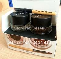 2013 Brand Long-Wear Eyeliner Set Long Lasting Waterproof Gel-eyeliner With Brush Black Sepia