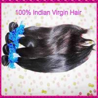 "2 or 3 pcs mixed lengths WestKiss Indian virgin hair natural straight good thick bundles deal 12""-28"" ,free shipping"