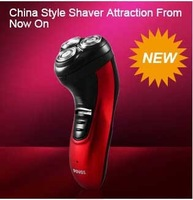 Hot Sale Povos PW930  Black Red Rechargeable  Independent  Floating Triple Head high-class Electric Men Shaver