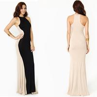 plus size 2015 summer black casual Women long maxi Celebrity Floor Length womens sheath Long eveing Party women's Dresses 639