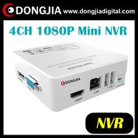 free shipping DONGJIA DA-2004GM-W ONVIF mini 1080P 4ch nvr for ip camera