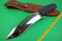 Free shipping New G10 Handle 7CR17 Blade Mirror Light Huning Knife VTHA7