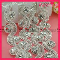 Fashion Wholesale  Free Shipping Shiny Crystal Rhinestone Applique WRA-284