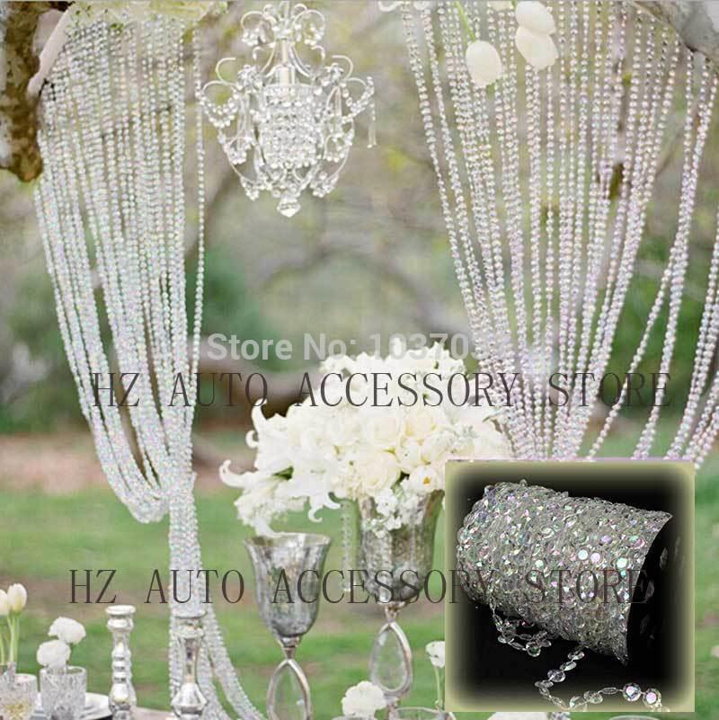 10x 15cm Topper Acrylic Crystal Chandelier Garland For Weddding Cake Chain Decor